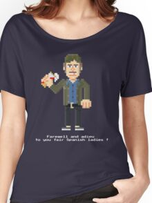 Quint VO - Jaws Pixel Art Women's Relaxed Fit T-Shirt