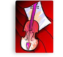 Digital painting of violin Canvas Print