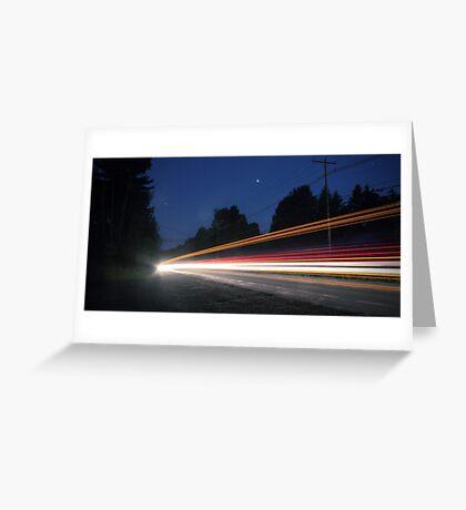 (Pre-dawn) Highway Traffic Greeting Card