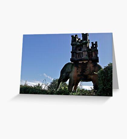 Elephant & Castle Statue, Peckforton, Cheshire Greeting Card