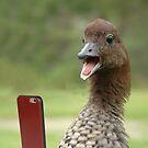 Duckface selfie by Susan Littlefield