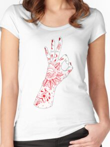 A-OK Women's Fitted Scoop T-Shirt