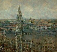 Munich  Marienplatz  Germany by Marie Luise  Strohmenger