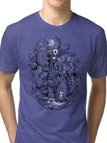 A nightmare in black and white Tri-blend T-Shirt
