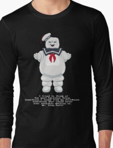 Stay Puft - Ghostbusters Pixel Art Long Sleeve T-Shirt