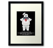 Stay Puft - Ghostbusters Pixel Art Framed Print