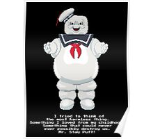 Stay Puft - Ghostbusters Pixel Art Poster