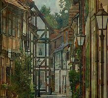 Alley through an old city by Marie Luise  Strohmenger