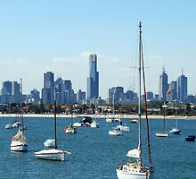 Melbourne - a city on the bay (vertical) by PenguinVic