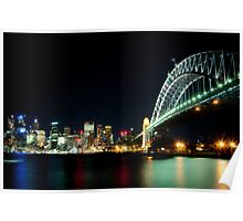 Harbor Bridge and the City Poster