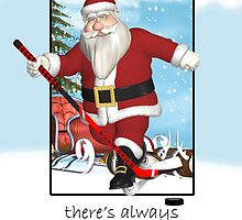 ice hockey christms card - always time for series by Moonlake
