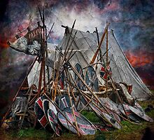 The viking camp by Alan Mattison