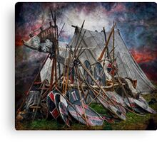 The viking camp Canvas Print