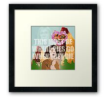 This Must Be Where Pies Go When They Die Framed Print