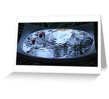 Bird bath at dusk (rippled water) Greeting Card
