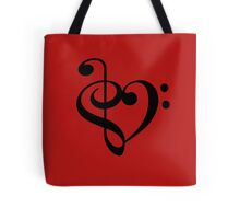 Treble-Bass heart Tote Bag