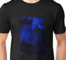 Blue Jellyfish Drifting Peacefully in the Darkness Unisex T-Shirt