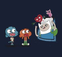 ADVENTURE TIME X GUMBALL Kids Tee