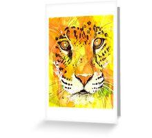 Yellow Eyes Greeting Card