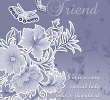 Birthday Card For Friend by Moonlake