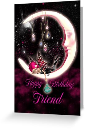Fairy Birthday Card For Friend by Moonlake