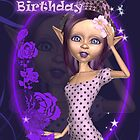 Cute Elf Birthday Card by Moonlake