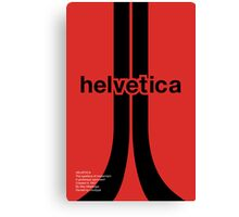 Helvetica - Typeface Poster Series Canvas Print