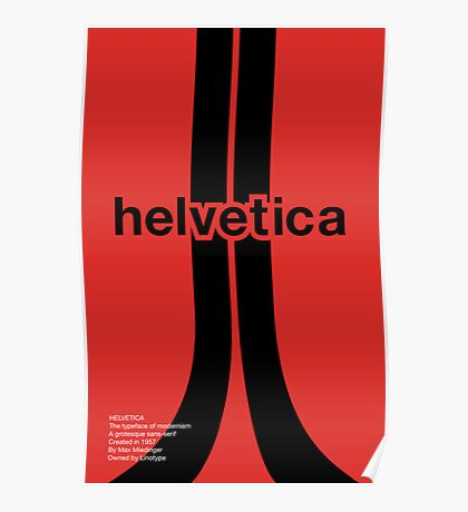 Helvetica - Typeface Poster Series Poster
