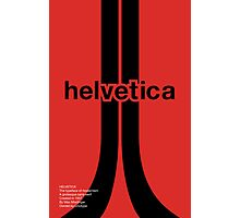 Helvetica - Typeface Poster Series Photographic Print