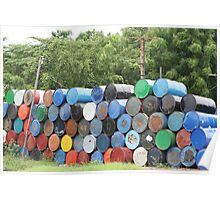 Colorful Barrels Poster