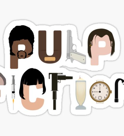Pulp Fiction Characters Sticker