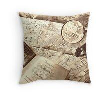 An old map Throw Pillow