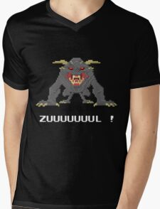 Zul - Ghostbusters Pixel Art Mens V-Neck T-Shirt