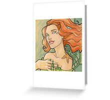 Tattooed Mermaid 11 Greeting Card
