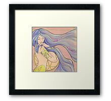 Tattooed Mermaid 1 Framed Print