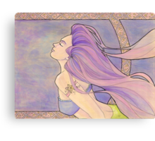 Tattooed Mermaid 4 Canvas Print