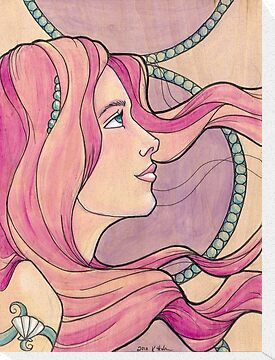 Tattooed Mermaid 5 by Karen  Hallion