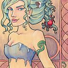 Tattooed Mermaid 8 by Karen  Hallion