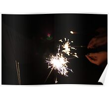 Fourth of July sparklers Poster