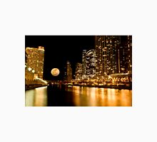 Chicago River Moon Unisex T-Shirt