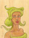 Octopus Mermaid 2 by Karen  Hallion