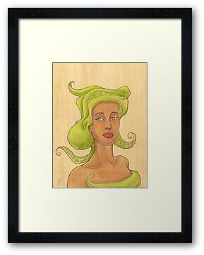 Octopus Mermaid 2 by Karen  Hallion