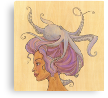 The Octopus Mermaid 4 Canvas Print