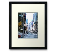 Broadway and down Framed Print