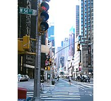 Broadway and down Photographic Print