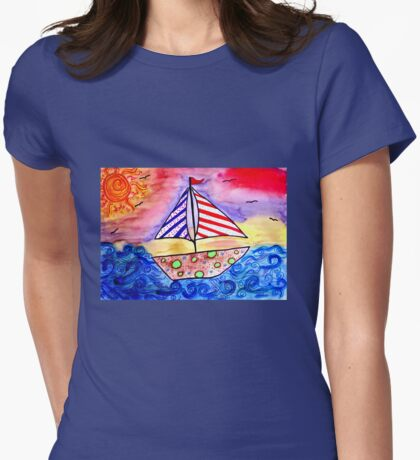 Dream Sailing!  Womens Fitted T-Shirt