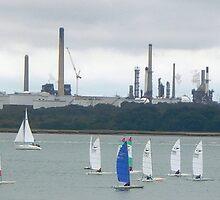 A Gaggle Of Sails - Southampton Water by Samag