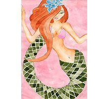 Cute Green Tail Jasmine Mermaid Photographic Print