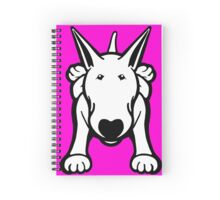 Updated English Bull Terrier Sprawl Spiral Notebook