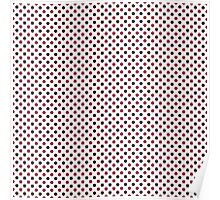 Cute Black White Red Polka Dot Poster